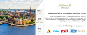 iGathering 19 to be held in Stockholm