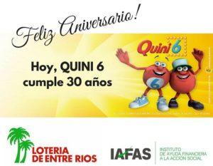 Con millonarios premios Quini 6 celebra sus 30 años