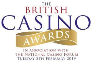 Los British Casino Awards regresan en 2019