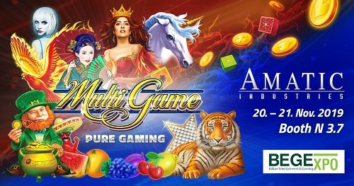 Pure Gaming from AMATIC Industries on show at BEGE
